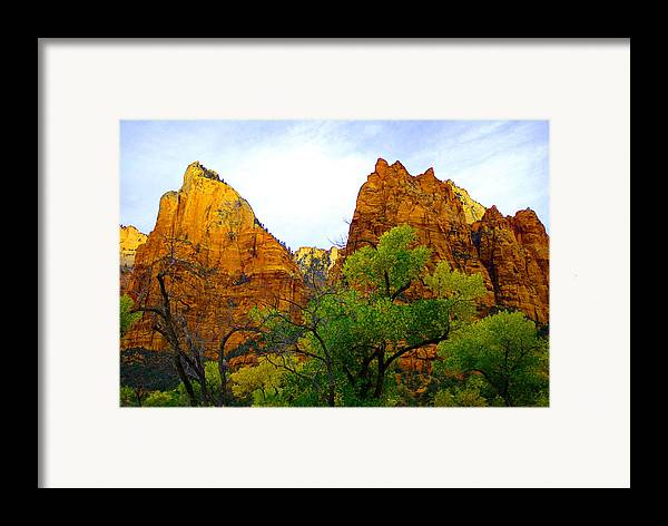Utah Framed Print featuring the photograph Zion In Autumn by Dennis Hammer