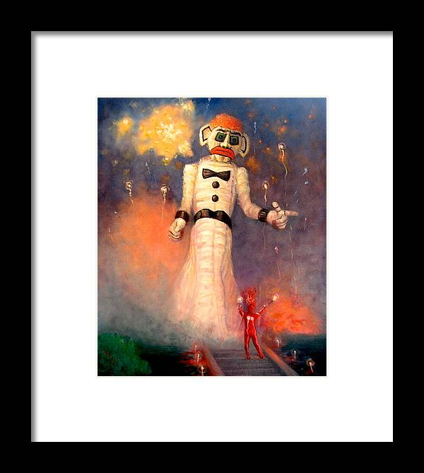 Realism Framed Print featuring the painting Zo-zobra by Donelli DiMaria