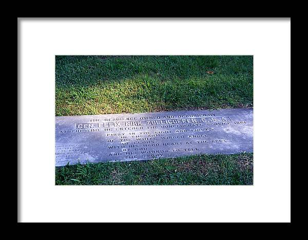 Nashville Framed Print featuring the photograph Zollicoffer's Grave by Randy Muir
