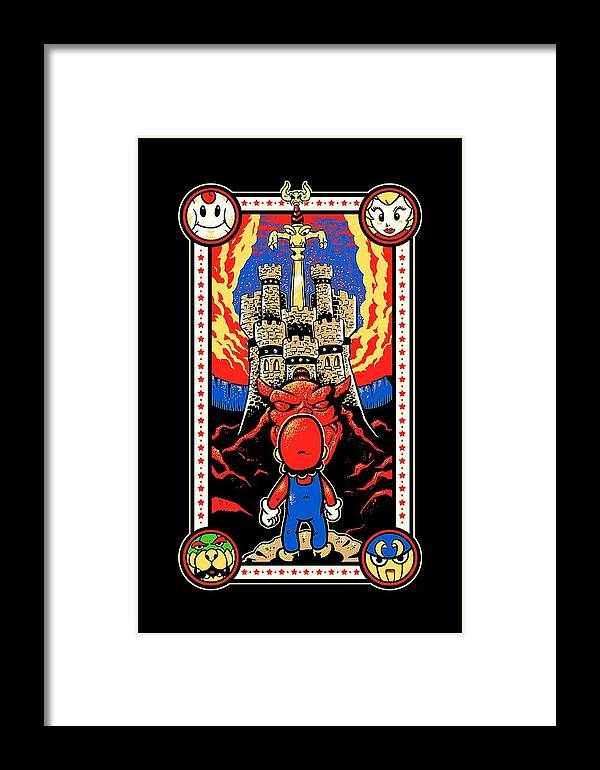 Gaming Framed Print featuring the digital art Zombies by Line Win