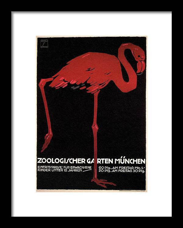 Zoologischer Garten Munchen, Germany - Retro travel Poster - Vintage Poster by Studio Grafiikka