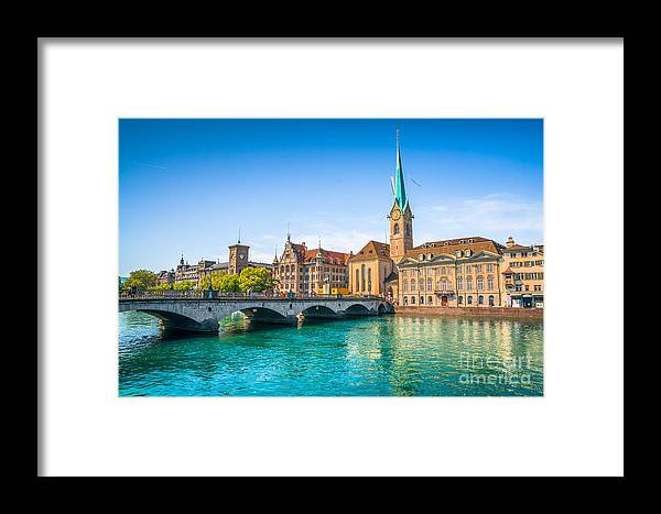 Alps Framed Print featuring the photograph Zurich City Center by JR Photography