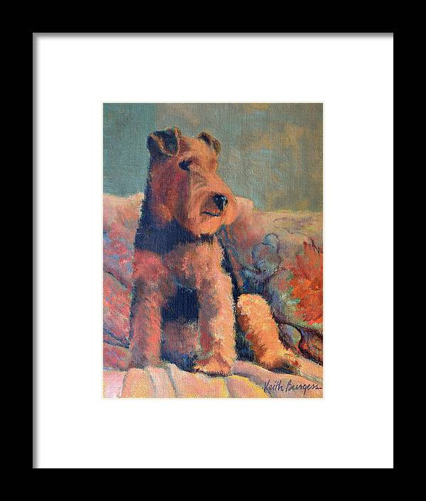 Pet Framed Print featuring the painting Zuzu by Keith Burgess