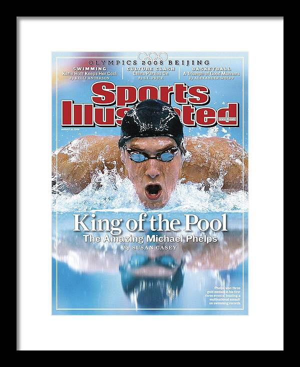 Magazine Cover Framed Print featuring the photograph , 2008 Summer Olympics Sports Illustrated Cover by Sports Illustrated