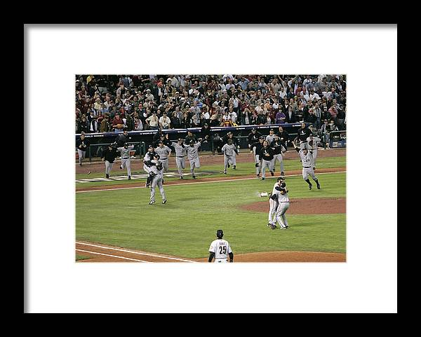 People Framed Print featuring the photograph 2005 World Series - Chicago White Sox by G. N. Lowrance