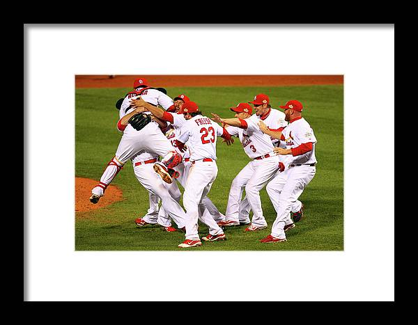 St. Louis Cardinals Framed Print featuring the photograph 2011 World Series Game 7 - Texas 1 by Dilip Vishwanat