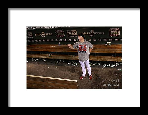 St. Louis Cardinals Framed Print featuring the photograph 2011 World Series Game 7 - Texas 1 by Ezra Shaw