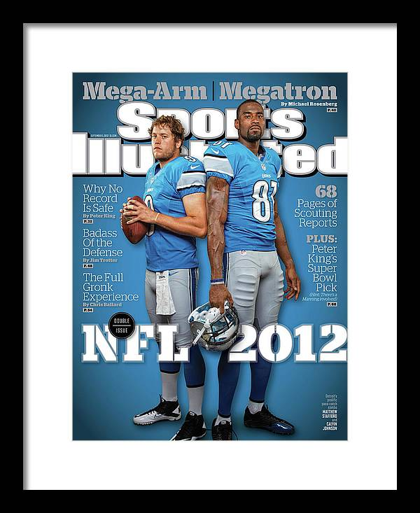 Magazine Cover Framed Print featuring the photograph 2012 Nfl Football Preview Issue Sports Illustrated Cover by Sports Illustrated