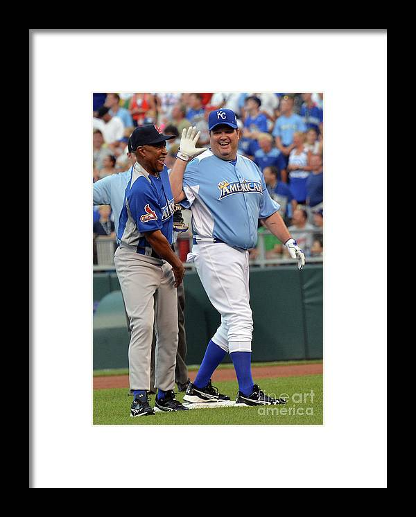 Softball Framed Print featuring the photograph 2012 Taco Bell All-star Legends & 1 by Rick Diamond