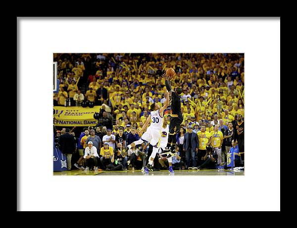 Playoffs Framed Print featuring the photograph 2016 Nba Finals - Game Seven by Ezra Shaw