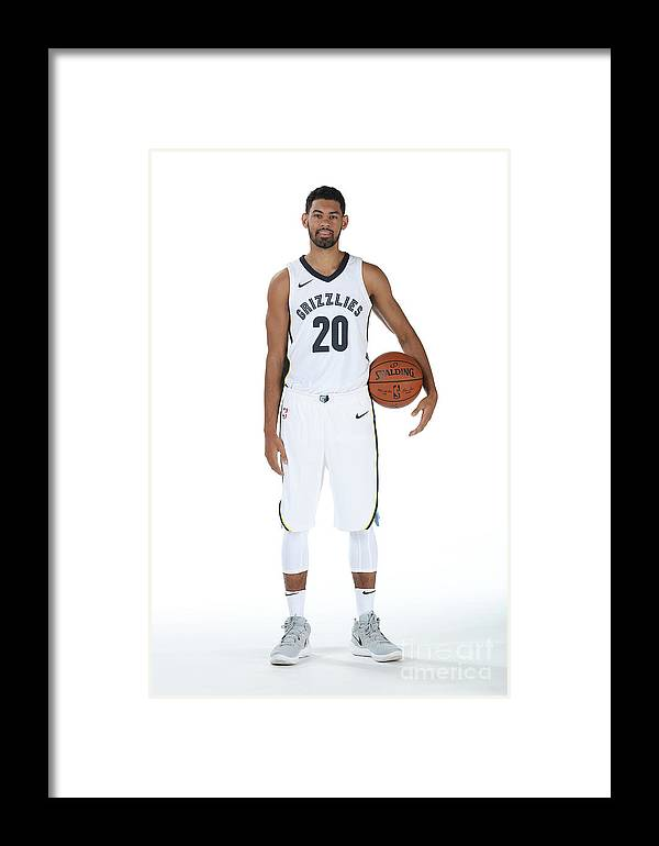 Media Day Framed Print featuring the photograph 2017-2018 Memphis Grizzlies Media Day by Joe Murphy