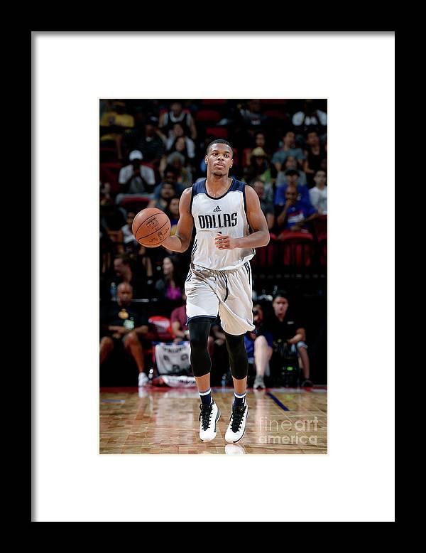 Nba Pro Basketball Framed Print featuring the photograph 2017 Las Vegas Summer League - Dallas by David Dow