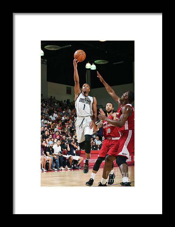 Nba Pro Basketball Framed Print featuring the photograph 2017 Las Vegas Summer League - Miami by Noah Graham