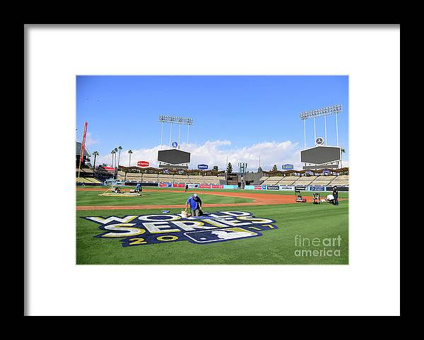 American League Baseball Framed Print featuring the photograph 2017 World Series Previews - Los by Harry How
