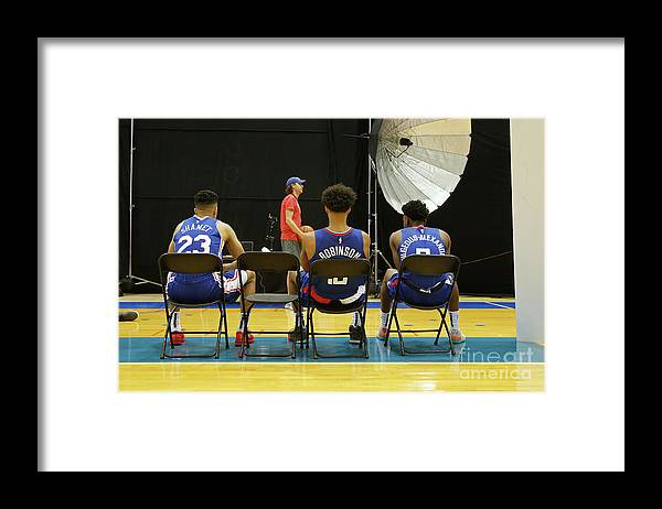 Jerome Robinson Framed Print featuring the photograph 2018 Nba Rookie Photo Shoot by Michelle Farsi