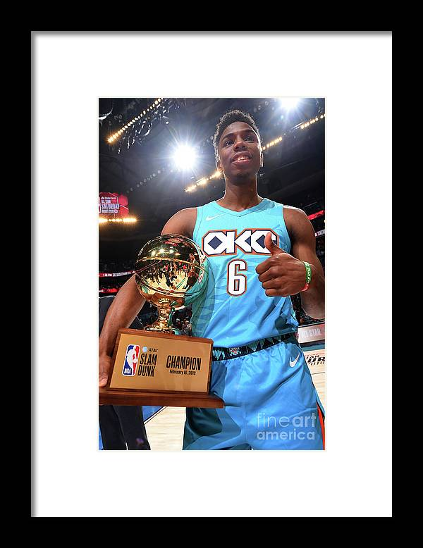 Nba Pro Basketball Framed Print featuring the photograph 2019 At&t Slam Dunk Contest by Andrew D. Bernstein