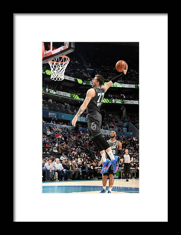 Nba Pro Basketball Framed Print featuring the photograph 2019 Mtn Dew Ice Rising Stars by Andrew D. Bernstein