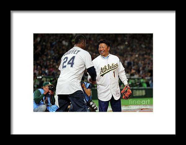 International Match Framed Print featuring the photograph 2019 Opening Series Oakland Athletics 1 by Alex Trautwig