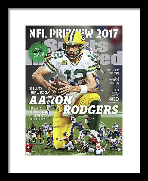 Season Framed Print featuring the photograph 31 Teams, 1 Goal Stop Aaron Rodgers, 2017 Nfl Football Sports Illustrated Cover by Sports Illustrated
