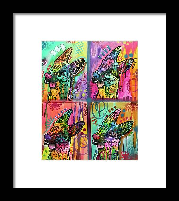 4 Shepherds Framed Print featuring the mixed media 4 Shepherds by Dean Russo