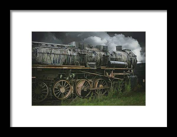 Abstract Framed Print featuring the photograph Abandoned Steam Locomotive by Robert Kinser