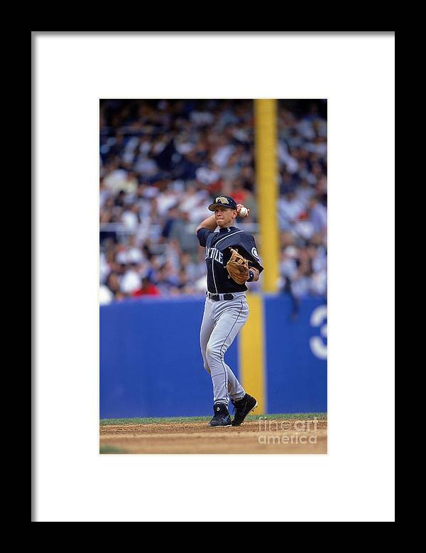 People Framed Print featuring the photograph Alex Rodriguez 3 by Jamie Squire