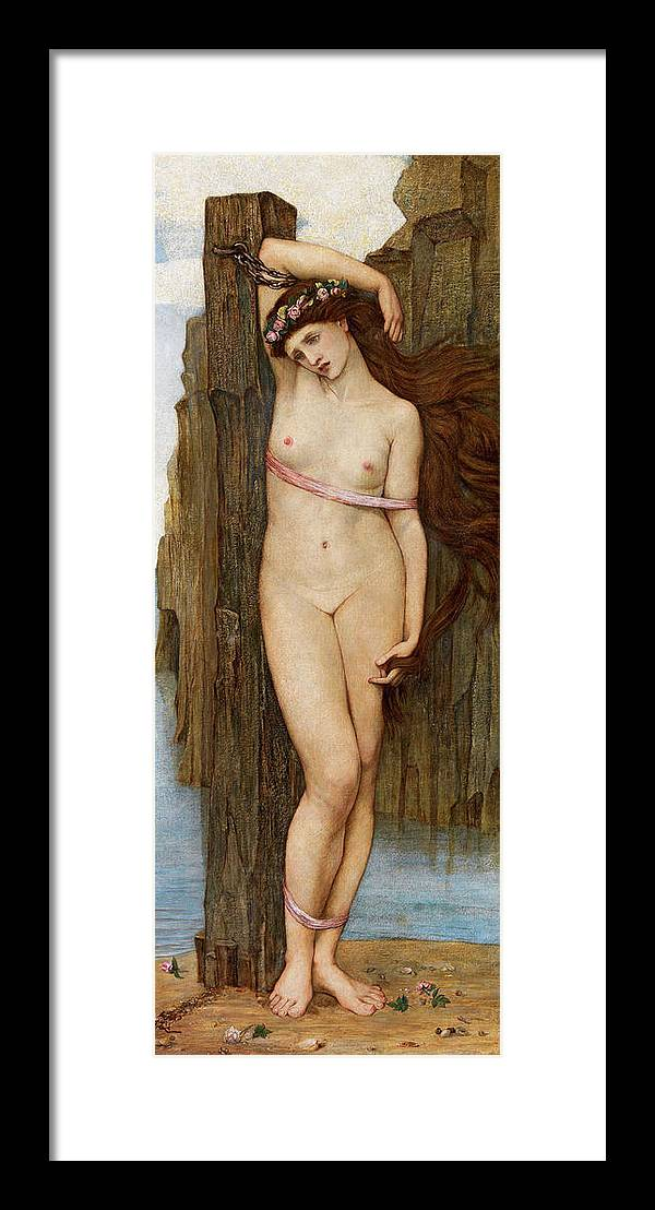 Stanhope Framed Print featuring the painting Andromeda by John Roddam Spencer Stanhope