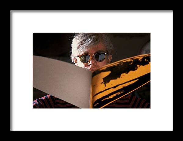 Andy Warhol Framed Print featuring the photograph Andy Warhol In New York, United States by Herve Gloaguen