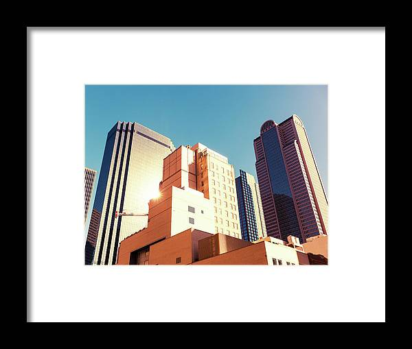 Financial Building Framed Print featuring the photograph Architecture, Dallas Financial District by Moreiso