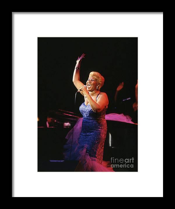Soul Music Framed Print featuring the photograph Aretha Franklin by Bettmann