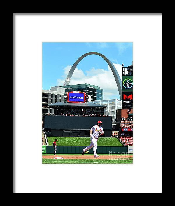 St. Louis Cardinals Framed Print featuring the photograph Arizona Diamondbacks V St Louis 1 by Jeff Curry