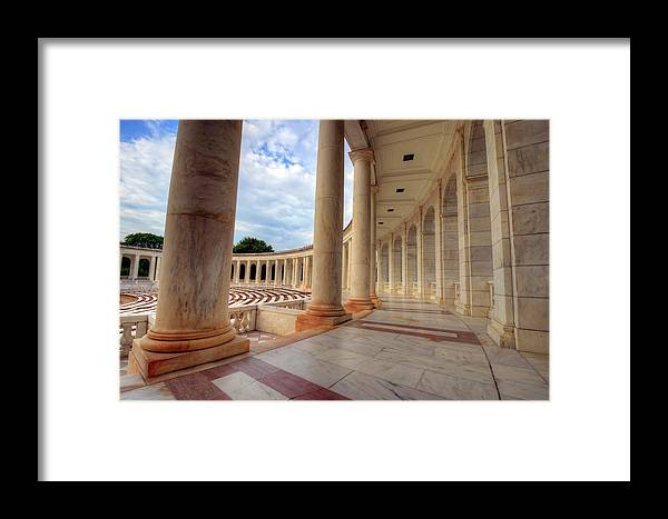 Craig Fildes Photography Framed Print featuring the photograph Arlington National Cemetery Memorial Amphitheater by Craig Fildes
