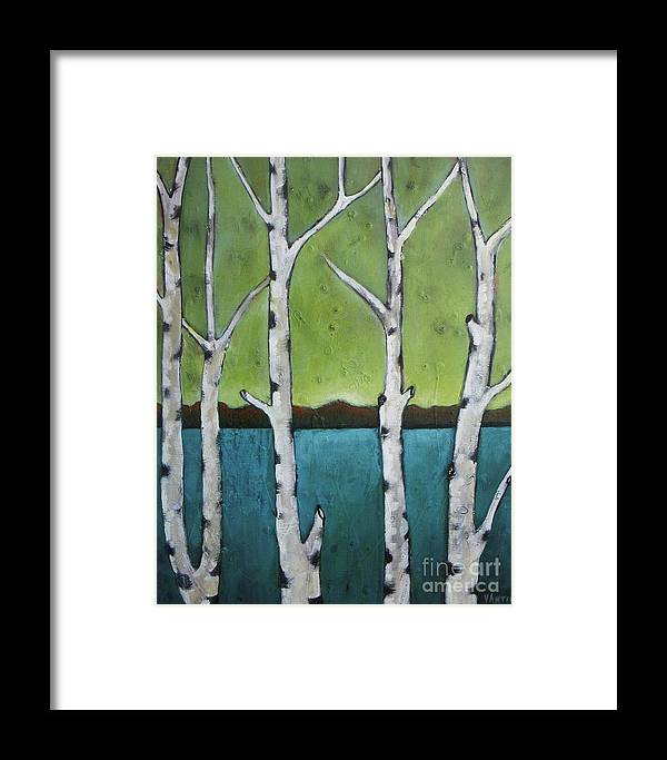 Aspen Framed Print featuring the photograph Aspen Trees On The Lake by Vesna Antic