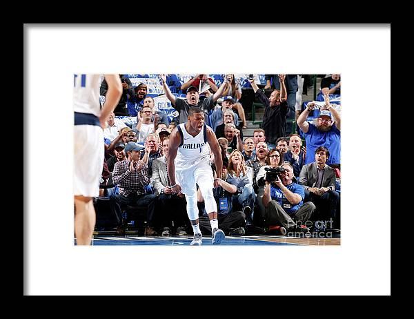 Nba Pro Basketball Framed Print featuring the photograph Atlanta Hawks V Dallas Mavericks by Glenn James