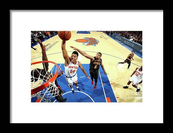 Nba Pro Basketball Framed Print featuring the photograph Atlanta Hawks V New York Knicks by Nathaniel S. Butler