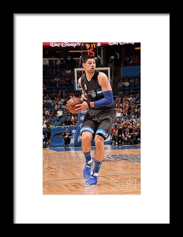 Nba Pro Basketball Framed Print featuring the photograph Atlanta Hawks V Orlando Magic by Gary Bassing