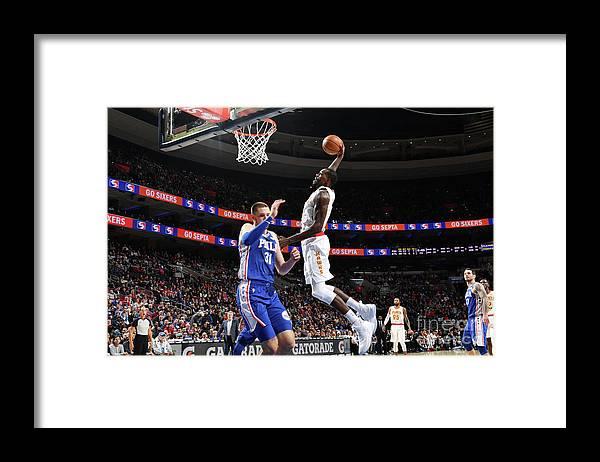 Nba Pro Basketball Framed Print featuring the photograph Atlanta Hawks V Philadelphia 76ers by Jesse D. Garrabrant