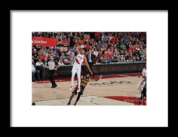 Nba Pro Basketball Framed Print featuring the photograph Atlanta Hawks V Portland Trail Blazers by Cameron Browne