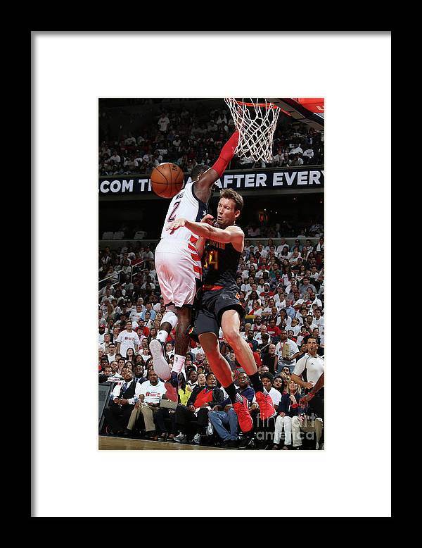 Playoffs Framed Print featuring the photograph Atlanta Hawks V Washington Wizards - by Stephen Gosling