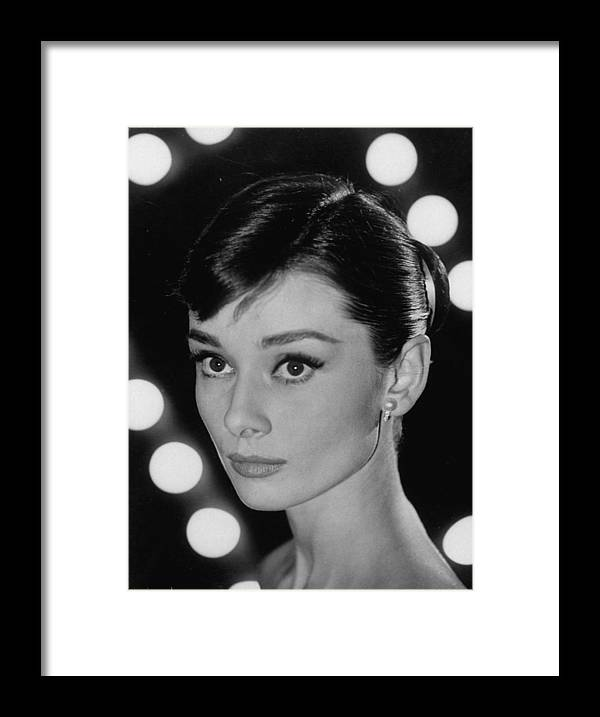 Timeincown Framed Print featuring the photograph Audrey Hepburn by Allan Grant