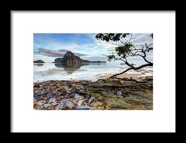 Water's Edge Framed Print featuring the photograph Beautiful El Nido Landscape by Vuk8691