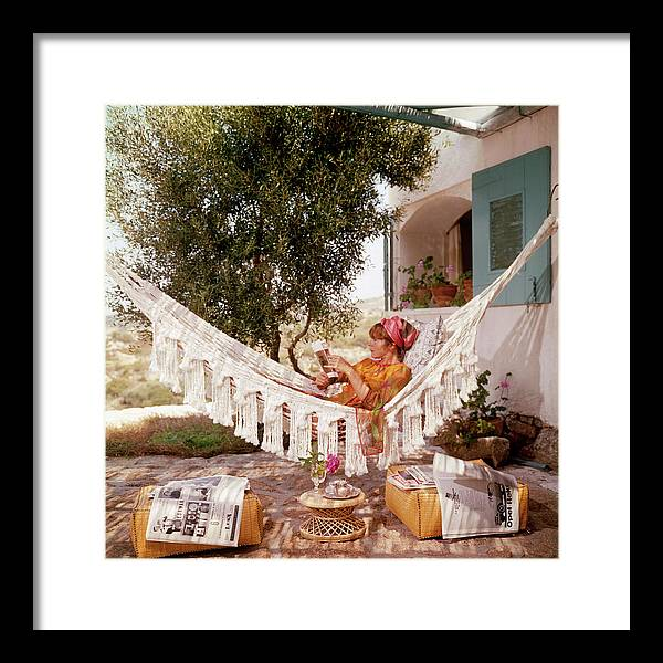Costa Smeralda Framed Print featuring the photograph Bettina Graziani by Slim Aarons