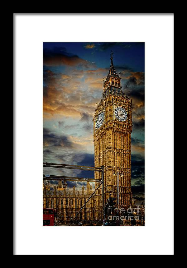 Big Ben Framed Print featuring the photograph Big Ben London City by Adrian Evans