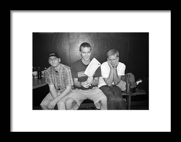 Rock Music Framed Print featuring the photograph Blink 182 Pose For A Portrait In Los by Jim Steinfeldt