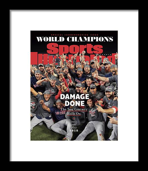Championship Framed Print featuring the photograph Boston Red Sox, 2018 World Series Champions Sports Illustrated Cover by Sports Illustrated