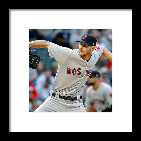 Three Quarter Length Framed Print featuring the photograph Boston Red Sox V Chicago White Sox 1 by Jon Durr