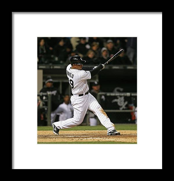 American League Baseball Framed Print featuring the photograph Boston Red Sox V Chicago White Sox by Jonathan Daniel