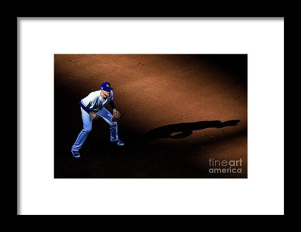 American League Baseball Framed Print featuring the photograph Boston Red Sox V Kansas City Royals by Brian Davidson