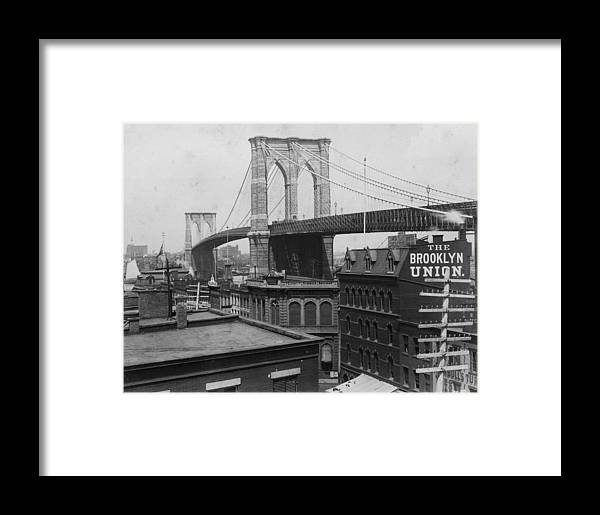 Long Framed Print featuring the photograph Brooklyn Bridge by Hulton Archive