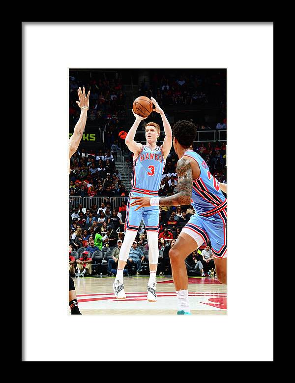 Atlanta Framed Print featuring the photograph Brooklyn Nets V Atlanta Hawks by Scott Cunningham